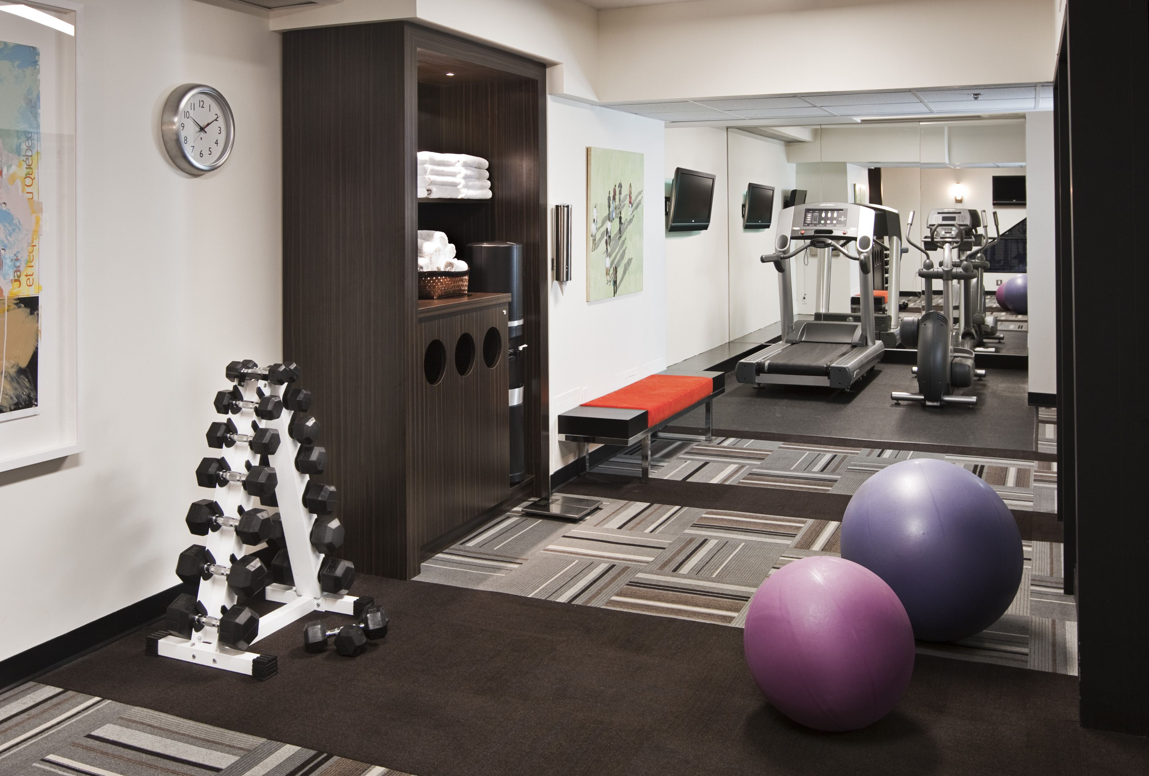Towel Drop Fitness Center Pinterest Fitness Centers And Towels - Small home gyms
